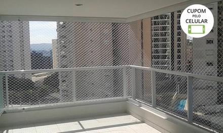 5, 10, 15 ou 20 m² de rede de proteção + instalação com a WJR