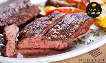 Jantar com entrada, prato principal, acompanhamentos e sobremesa para 2 pessoas no Portucho   2 endereços