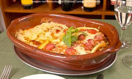 Cantina La Toscanelli – Tatuapé: almoço ou jantar com entrada e prato principal para 2 pessoas (opções com sobremesa)